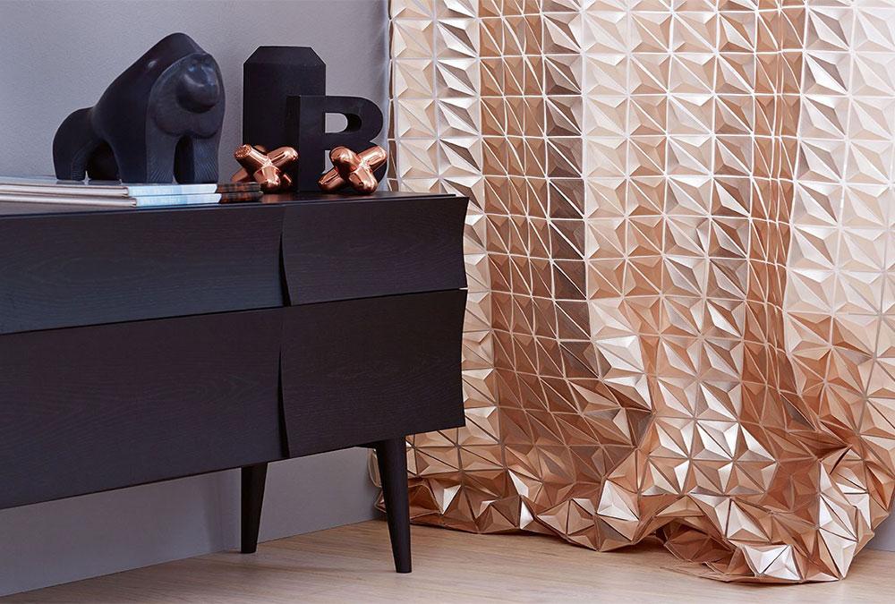 Galerie villa int rieur rideau luxe for Rideau interieur