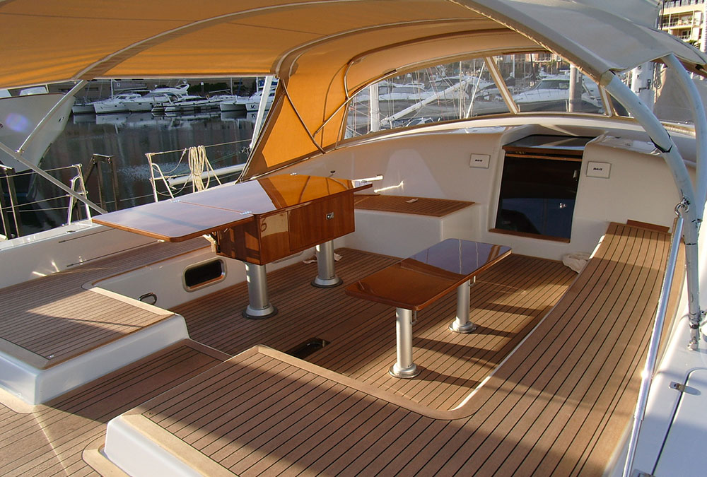 Marine upholstery for Interieur yacht