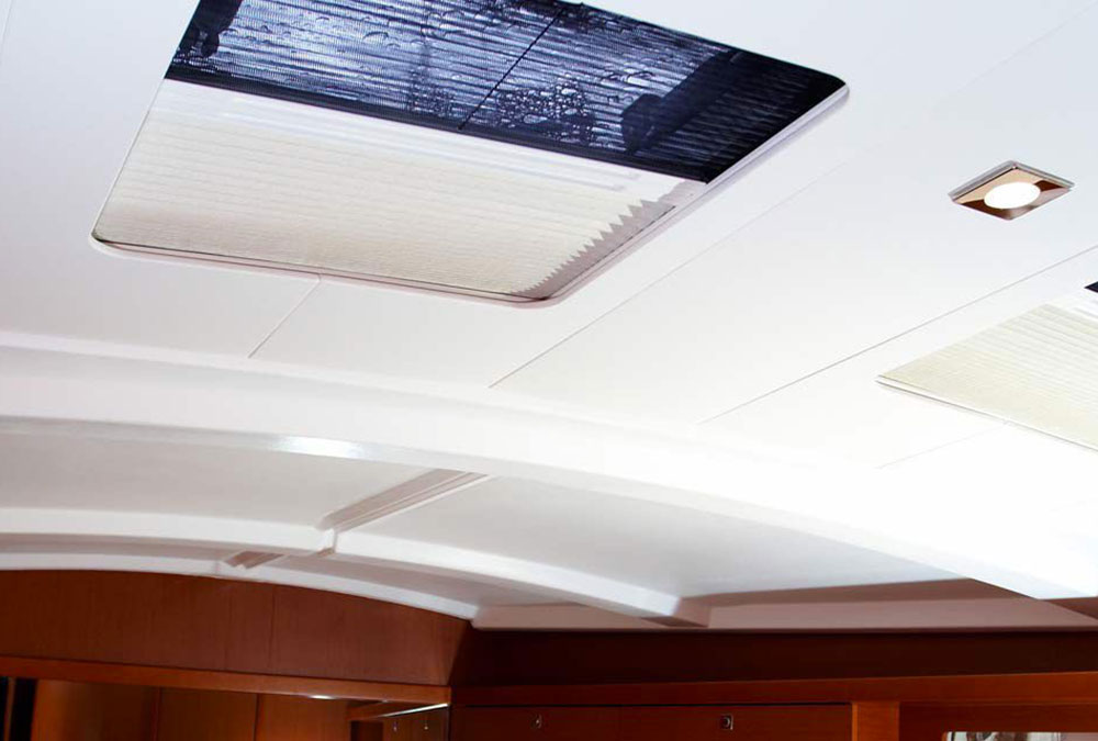 PLEATED YACHT BLINDS HATCH SHADE SCREEN OCEANAIR SKYSCREEN